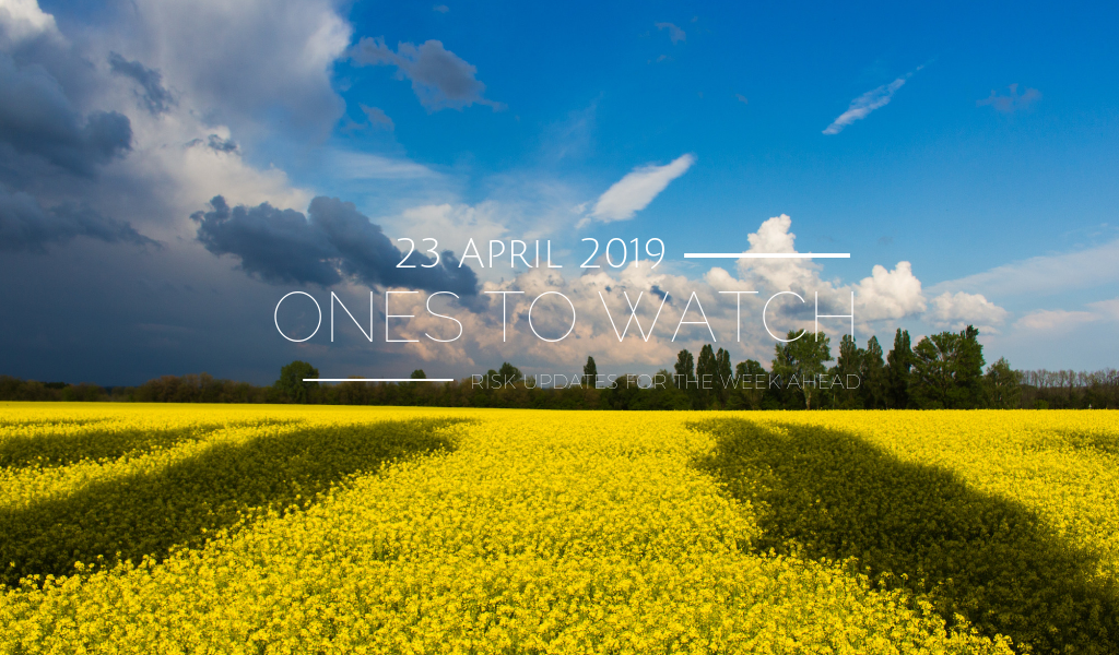 Ones to Watch, 23 April 2019