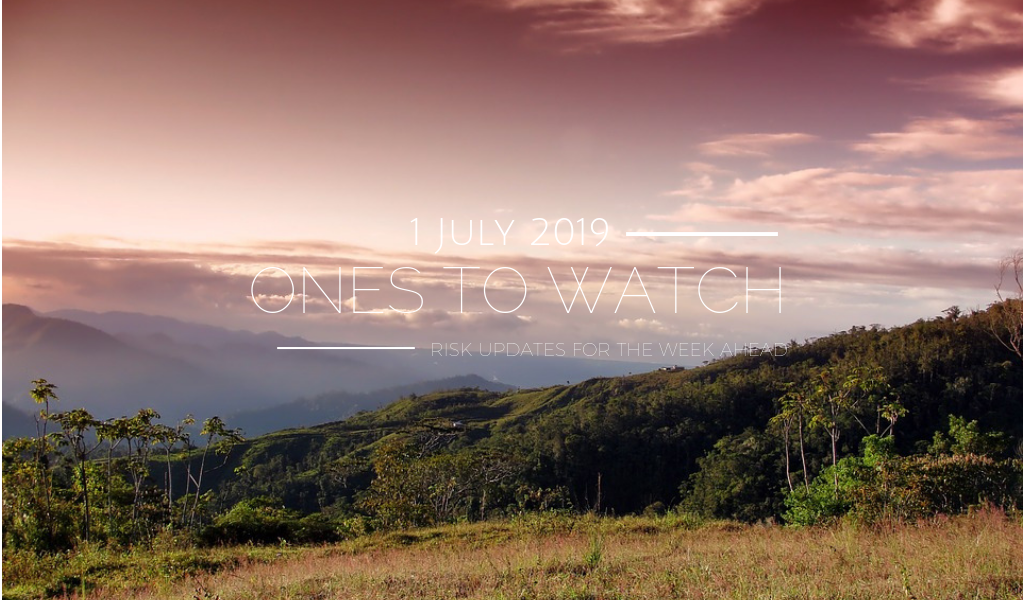Ones to Watch, 1 July 2019