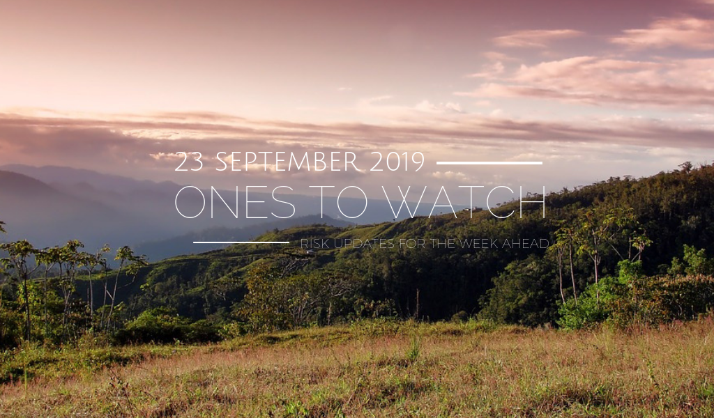 Ones to Watch, 23 September 2019