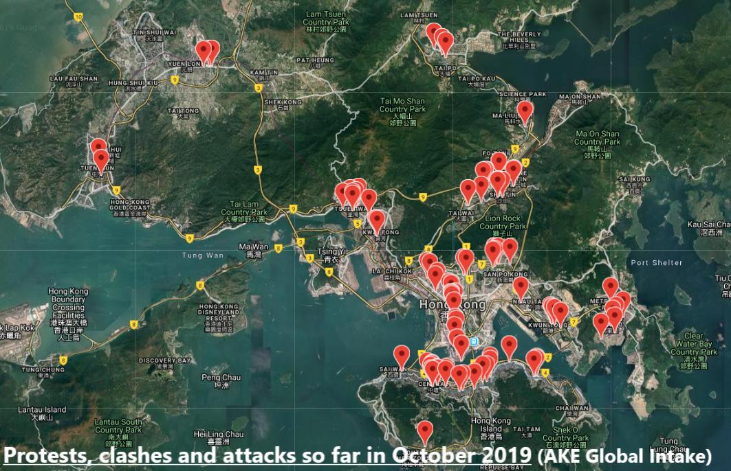 Hong Kong SAR:IEDs and firebombs in Asia's finance hub